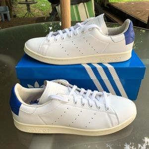 NEW Leather Stan Smith Original Blue Accent EE5788